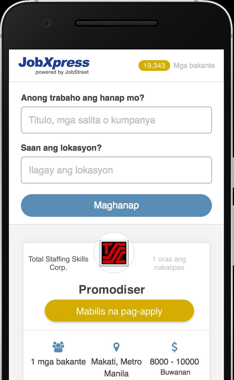 JobXpress – Libu-libong trabaho sa Metro Manila